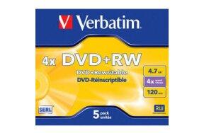 DVD+RW VERBATIM SLIM CASE